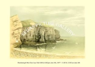 Flamborough West Scar Low Tide 6 to 8:30 pm June 4th, 1877 -  11 To 12:00 Am June 5th